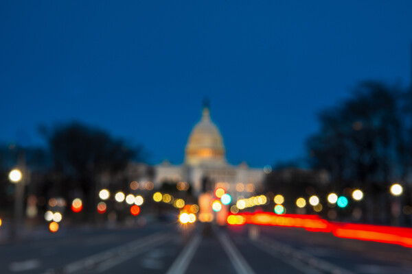 blurry image of the capitol building