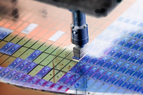 Semiconductor being manufactured by machine