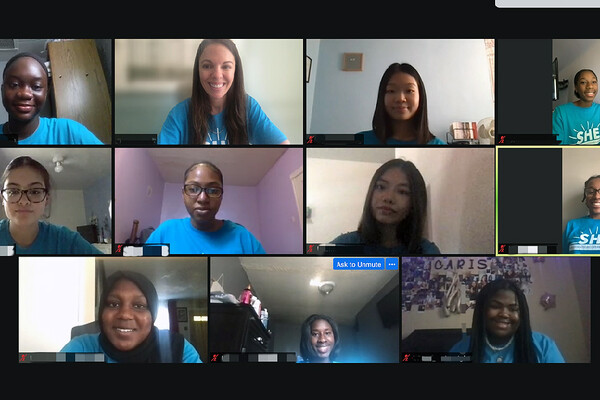 Screen capture of 11 participants in a Zoom call.